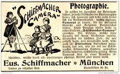 Original-Werbung/ Anzeige 1897 - SCHIFFMACHER CAMERA - MÜNCHEN - ca. 90 x 55 mm