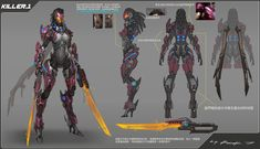 ArtStation - some old works , Rock D Female Character Concept, Alien Character, Cyberpunk Character, Game Character Design, Character Design Animation, Character Design References, Character Art, Transformers, Medieval