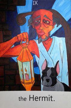 The Hermit. / tarot card by Estudiomau on Etsy