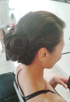 updo by Janita Helova / Rome, Italy http://www.hairmakeupnails-rome.com/