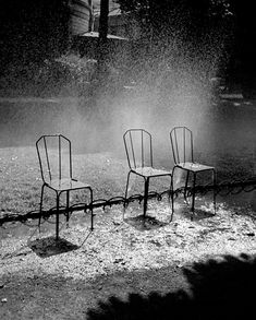 Paris three chairs - Fred Stein (July 3, 1909 – September 27, 1967) was an early pioneer of the hand-heldcamera who became a gifted street photographer in Paris and New York after he was forced to flee his native Germany by the Nazi threat in the early 1930s. He explored the new creative possibilities of photography, capturing spontaneous scenes from life on the street. He was also a master portraitist, creating intimate images of many of the great personalities of the 20th century.