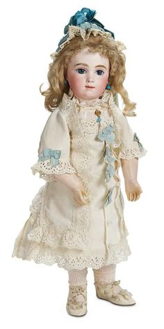 Antique French Bisque Bebe Doll A. Victorian Dolls, Antique Dolls, Vintage Dolls, Doll Costume, Costumes, Half Dolls, China Dolls, Bisque Doll, Dollhouse Dolls