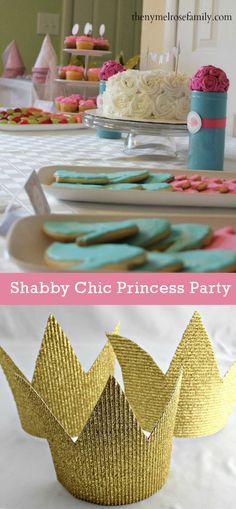 Sweet Shabby Chic Princess Birthday Party Ideas.