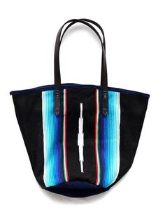 Desperately want this Mexican blanket tote bag for the beach.  Aw by Andrea Wong, created from reclaimed blanket.