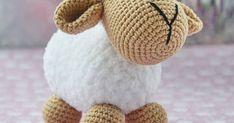 Amigurumi Sheep Free English Pattern - Design by Softs Stories Crochet Sheep Free Pattern, Crochet Animal Patterns, Dog Pattern, Stuffed Animal Patterns, Crochet Patterns Amigurumi, Dou Dou, Baby Mobile, Crochet Ornaments, Knitted Animals