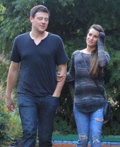 Cory Monteith And Lea Michele Out For Lunch In Hollywood
