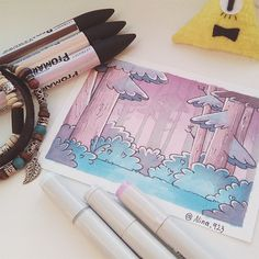 GF- Alone in The Woods by on DeviantArt Gravity Falls Waddles, Gravity Falls Art, Best Cartoons Ever, Cool Cartoons, Dipper Y Mabel, Gavity Falls, Reverse Falls, Over The Garden Wall, Bill Cipher