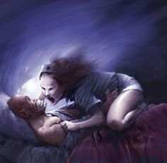 Sleeping Person with Demon Over Them | ... Sleep Paralysis Stories: Waking Up in a Nightmare | Sleeping Resources