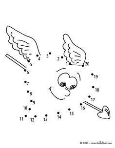 Teddy Bear & Heart balloon printable connect the dots game