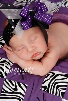 Zebra baby quilt and hairbow
