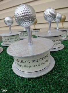 DIY golf trophies