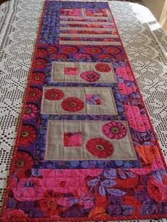Kaffe Fassett fabric makes a lovely table runner