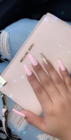 In seek out some nail designs and ideas for your nails? Here is our list of must-try coffin acrylic nails for fashionable women. Summer Acrylic Nails, Cute Acrylic Nails, Acrylic Nail Designs, Pink Acrylics, Colorful Nail Designs, Spring Nails, Perfect Nails, Gorgeous Nails, Pretty Nails