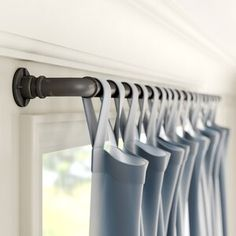 Greyleigh Hoffman Industrial Single Curtain Rod & Hardware Set Greyleigh Hoffman Juli Industrial Single Curtain Rod & Hardware Set Size: H x W x D, Finish: Oil Rubbed Bronze Round Curtain Rod, Pipe Curtain Rods, Curtain Rod Hardware, Double Rod Curtains, Steel Curtain, Drapery Rods, Hanging Curtain Rods, Cute Curtains, Drapes Curtains