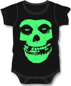 9044c2639e942 Punk Rock Baby Clothes love the misfits baby cloths /// Seriously how cute  is this.