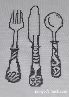 Useful Life Hacks, Cross Stitch Patterns, Diy And Crafts, Embroidery, Perler, Knifes, Crossstitch, Crochet Table Runner, Dish Towels