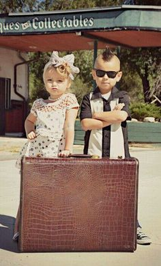 Rockabilly Flower Girl and Ring Bearer Outfits:: Rockabilly Wedding:: Retro Inspired Wedding. I know some cute little girls
