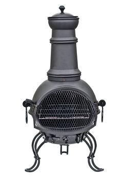 La Hacienda Black Steel Chiminea Chimenea Patio Heater and BBQ Grill for sale online Cadiz, Bbq Grill, Barbecue, Natural Gas Patio Heater, Chiminea, Backyard House, Gas Fire Table, Esschert Design, Cooking On The Grill