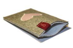 Handytaschen - Handytasche Filz - Vichy Herz passend fürs IPhone - ein Designerstück von AKD bei DaWanda
