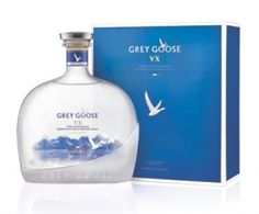 Bacardi has announced the launch of Grey Goose VX, an ultra-premium hybrid spirit combining vodka with drops of fine Cognac Drink Bottles, Vodka Bottle, Vodka Tequila, Grey Goose Vodka, Bacardi, Irish Whiskey, Wine And Spirits, Bottle Design, Liquor