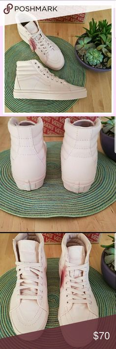 Vans Peach Blush Mono Canvas Sk8-Hi Brand new with box and tags.  Looks like a ballerina pink. Men's 6 Women's 7.5 Vans Shoes Sneakers