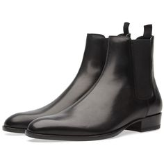 Buy the Saint Laurent Wyatt 30 Boot in Black from leading mens fashion retailer END. - only Fast shipping on all latest Saint Laurent products Zink Printer, Rocker Boots, Black Boots, Chelsea Boots, Trainers, Shoe Boots, Saint Laurent, Footwear, Luxury