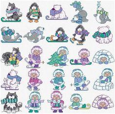 Maria Diaz Designs: ESKIMO MOTIFS (Cross-stitch chart)