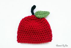 free preemie apple hat crochet > I really like the stem and leaf from ...