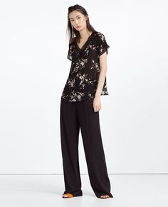ZARA - COLLECTION SS16 - PRINTED BLOUSE