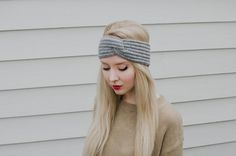 crochet turban headband by peoplewebs on Etsy, $15.00