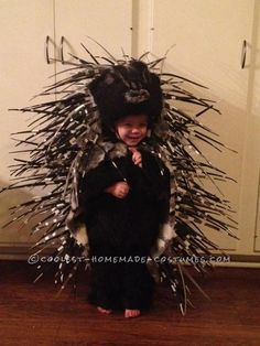 I just had to!!!! Homemade Prickly Porcupine Costume!
