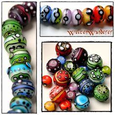 handmade lampwork beads, by Michaela - WeltenWanderer Lampwork Beads, Michaela, Lampworking, Handmade, Friends, Schmuck, Amigos, Hand Made, Boyfriends
