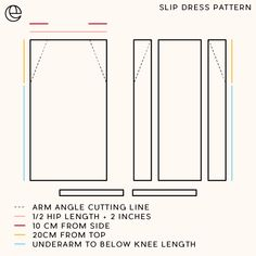 DIY: Slip Dress with Leg Splits - DIY: Slip Dress with Leg Splits — The Essentials Club // Creative DIY Hub Source by charlottebrendel - Diy Clothing, Sewing Clothes, Clothing Patterns, Sewing Patterns, Bag Patterns, Dress Sewing, Fashion Sewing, Diy Fashion, Fashion Tips For Women
