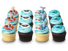 Shark Week Cupcakes!!! So cute! from Georgetown Cupcake :)