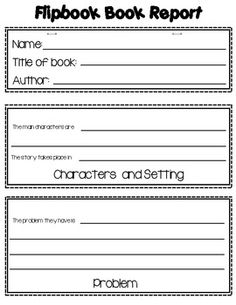Book Report or Story Elements Templates-Flipbook, Newspape   r ...