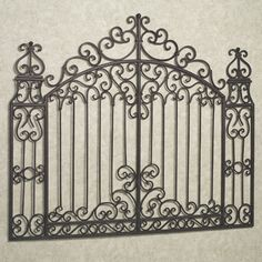 Gates of Tuscany Wall Grille, Antique Gold Touch of Class Petite Pergola, Iron Gate Design, Wrought Iron Doors, Pergola Attached To House, Tuscan Decorating, Iron Art, Entrance Gates, Iron Decor, Pergola Plans