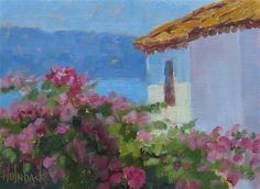 "Daily Paintworks - ""Bouganvillia"" - Original Fine Art for Sale - © Pam Holnback"