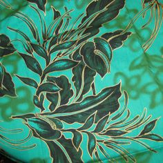 Vintage Tropical Print FABRIC  Screen Printed  by SelvedgeShop, $20.00