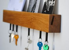 wall rail key holder magnetic and mail holder