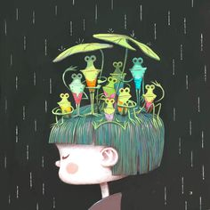 """Shelter"" - A Giclée Print by Ken Wong  #inprnt #print #art #Illustration $20.00"