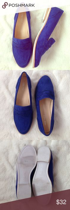 Nine West Cobalt Blue Suede Shoes Nine West loafers. Size 8M. Blue suede. Pre-loved, minimal wear. Overall great condition! Nine West Shoes Flats & Loafers
