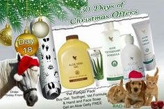 DAY Pamper your pooches and cuddle your kitty cats. Treat your 4 legged friend this Christmas! I used the gelly on one of my dogs recently as her collar had rubbed her raw on her neck. It worked a treat, and saved on vets bills! Aloe Vera Gel Forever, Forever Aloe, Forever Living Business, Christmas Offers, Face Soap, Pet Vet, Christmas Fairy, Christmas 2015, Xmas