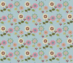 Flower_Applique_small fabric by lana_gordon_rast_ on Spoonflower - custom fabric