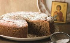 Fanouropita, the lost and found cake Photo by: Greek Table Cooking Greek Sweets, Greek Desserts, Greek Recipes, Desert Recipes, Healthy Desserts, Healthy Food, Round Cakes, Cake Tins, Banana Bread