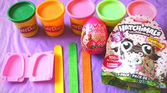 3 Ice Cream Playdough Suprise toys Hatch Animals Barbie Egg Suprise toys for Toddlers Children Kids