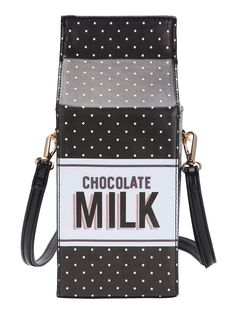Dot Print Milk Carton Shaped Shoulder Bag - This is getting out of hand. 6a29a4065078f