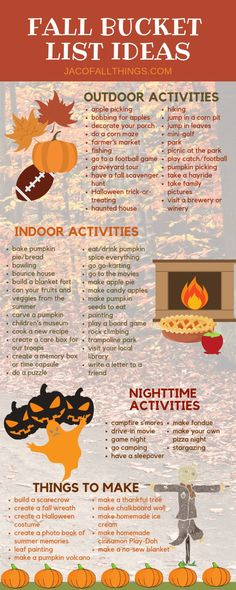 Fall Bucket List Ideas and Printable Have fun with your family this fall with these fall activities! Use these indoor and outdoor fall activity ideas to create your family fall bucket list! Fall Bucket List Ideas and Printable Herbst Bucket List, Bobbing For Apples, Fun Fall Activities, Indoor Activities, Family Activities, Fall Festival Activities, List Of Activities, Indoor Games, Diy Décoration