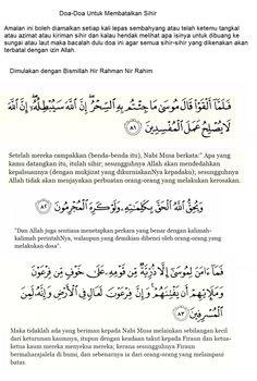 Doa Membatalkan Sihir ke Azimat dan Tangkal