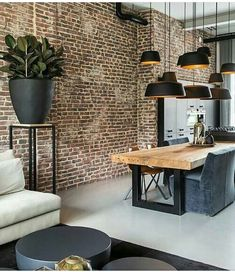 Modern interior design brilliant loft interior designs that inspire you . - Modern interior design brilliant loft interior designs that inspire you - Dining Room Sets, Cosy Dining Room, Küchen Design, Design Case, Design Salon, Wall Design, Design Bedroom, Brick Design, Design Blogs