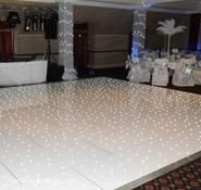 White dance floor for hire. Our white dance floors are available for hire in London and around the UK.